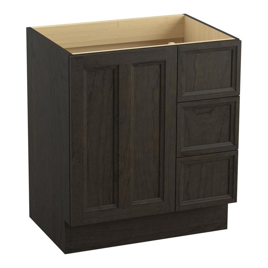 KOHLER Damask Felt Grey Bathroom Vanity (Common: 30-in x 22-in; Actual: 30-in x 21.87-in)