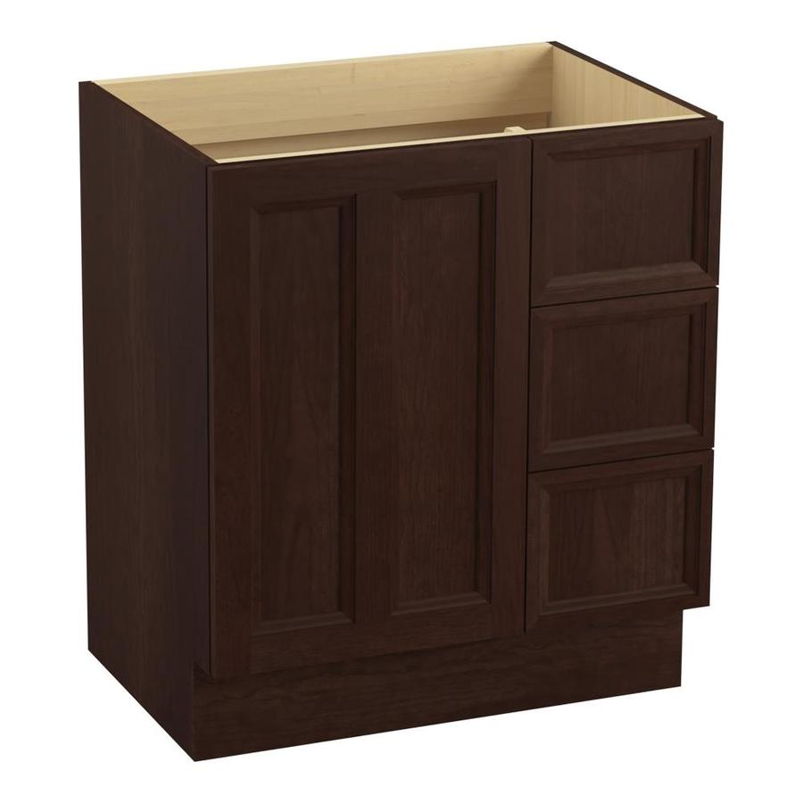 KOHLER Damask Cherry Tweed (Common: 30-in x 22-in) Traditional Bathroom Vanity (Actual: 30-in x 21.875-in)