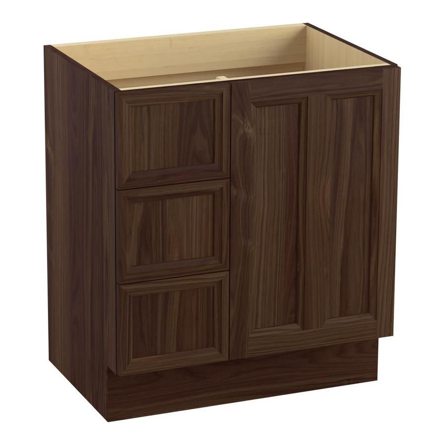 KOHLER Damask Terry Walnut Bathroom Vanity (Common: 30-in x 22-in; Actual: 30-in x 21.87-in)
