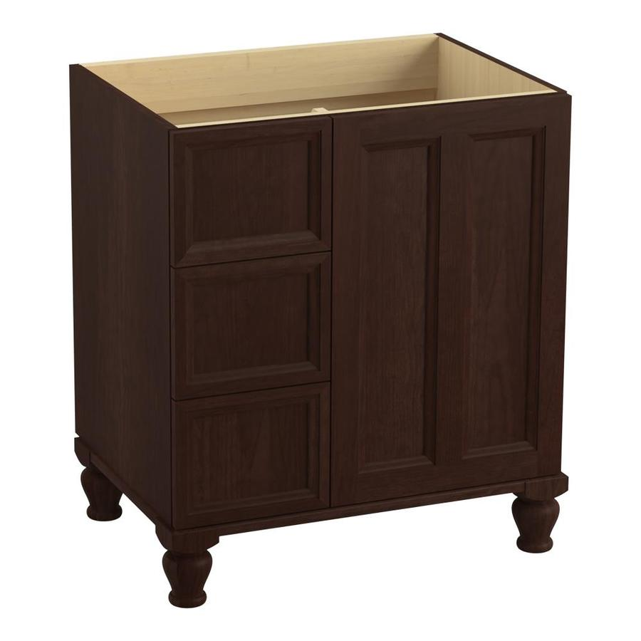 KOHLER Damask Cherry Tweed 30-in Traditional Bathroom Vanity