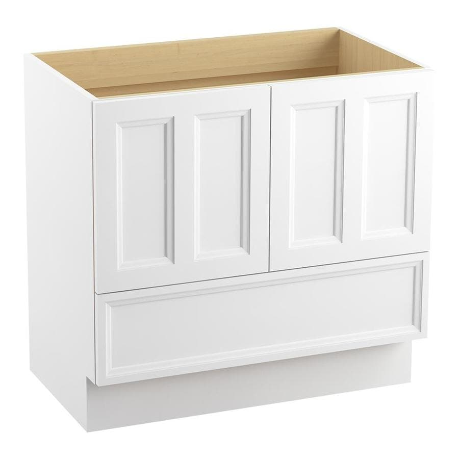 KOHLER Damask Linen White 36-in Traditional Bathroom Vanity