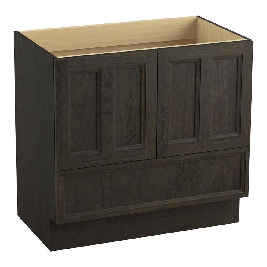 KOHLER Damask Felt Grey Bathroom Vanity (Common: 36-in x 22-in; Actual: 36-in x 21.87-in)