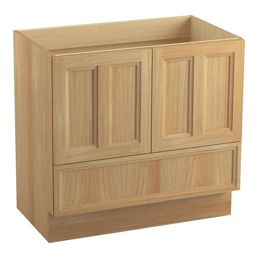 KOHLER Damask Khaki White Oak Bathroom Vanity (Common: 36-in x 22-in; Actual: 36-in x 21.87-in)