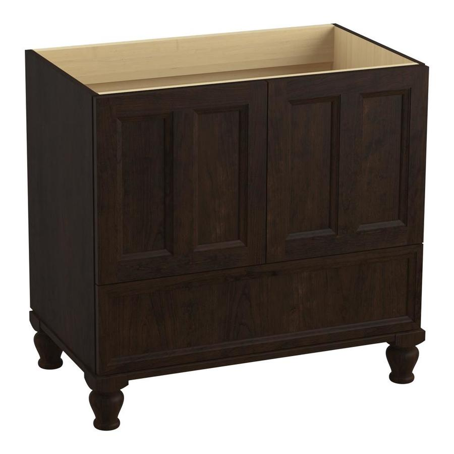 KOHLER Damask Claret Suede 36-in Traditional Bathroom Vanity