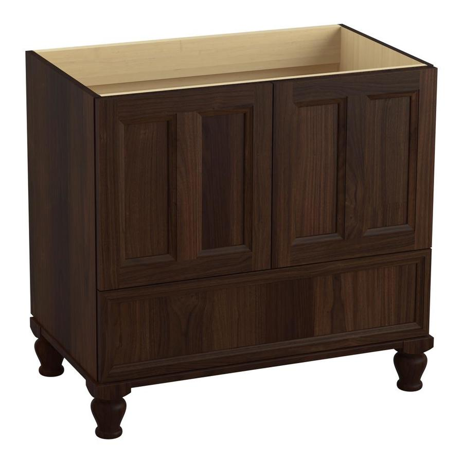 KOHLER Damask 36-in Ramie Walnut Traditional Bathroom Vanity