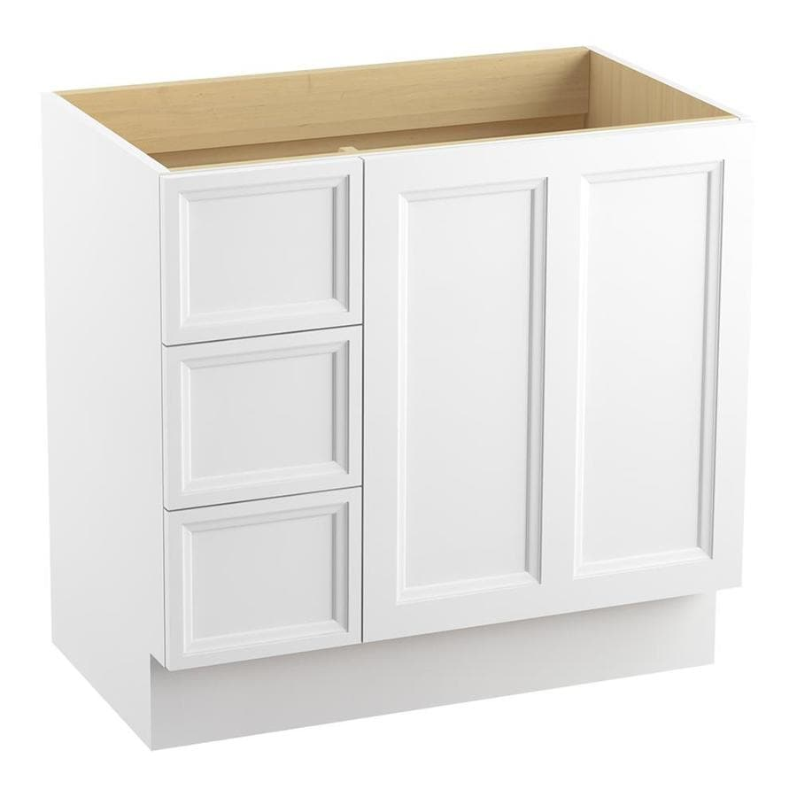 KOHLER Damask Linen White Bathroom Vanity (Common: 36-in x 22-in; Actual: 36-in x 21.87-in)