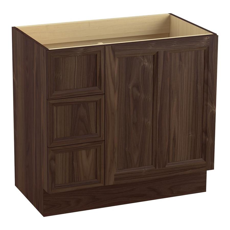 KOHLER Damask Terry Walnut 36-in Traditional Bathroom Vanity
