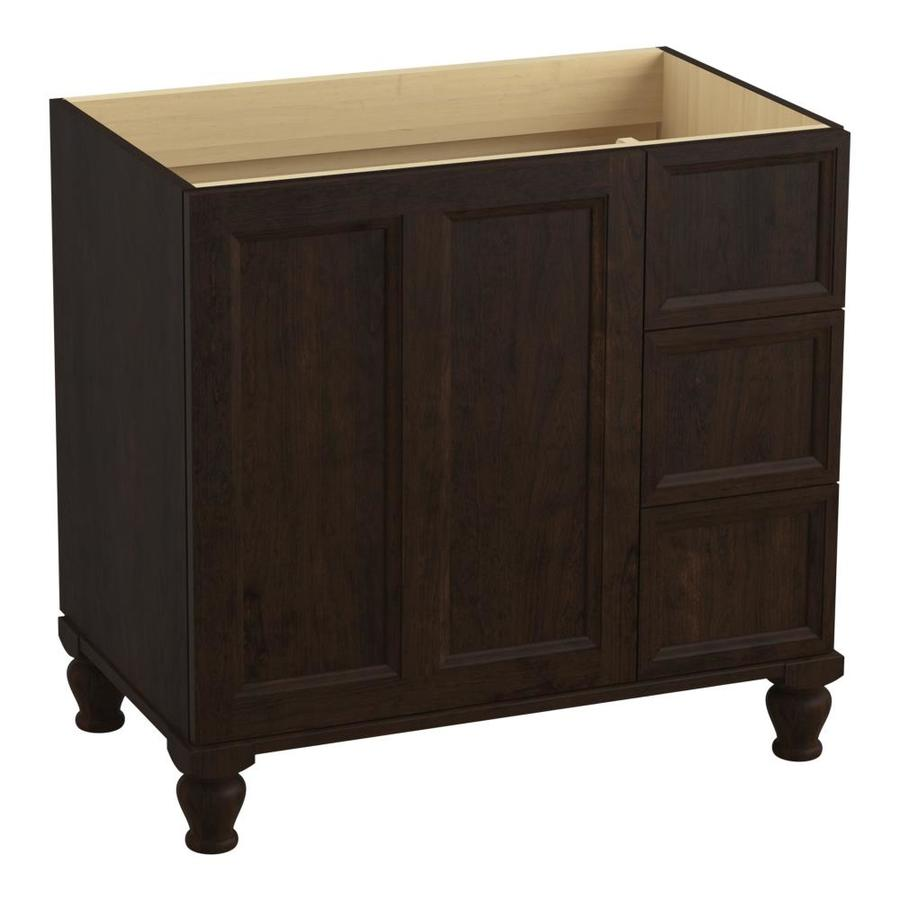 KOHLER Damask Claret Suede (Common: 36-in x 22-in) Traditional Bathroom Vanity (Actual: 36-in x 21.875-in)