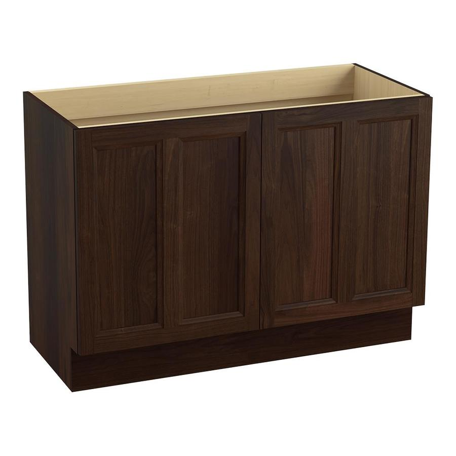 KOHLER Damask Ramie Walnut Bathroom Vanity (Common: 48-in x 22-in; Actual: 48-in x 21.87-in)