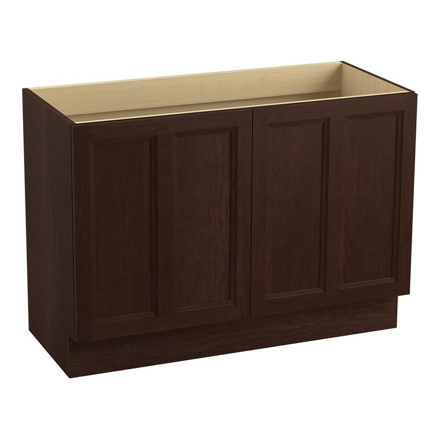 KOHLER Damask Cherry Tweed 48-in Traditional Bathroom Vanity