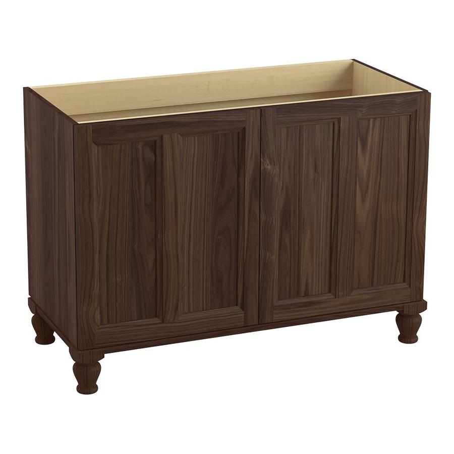 KOHLER Damask 48-in Terry Walnut Traditional Bathroom Vanity