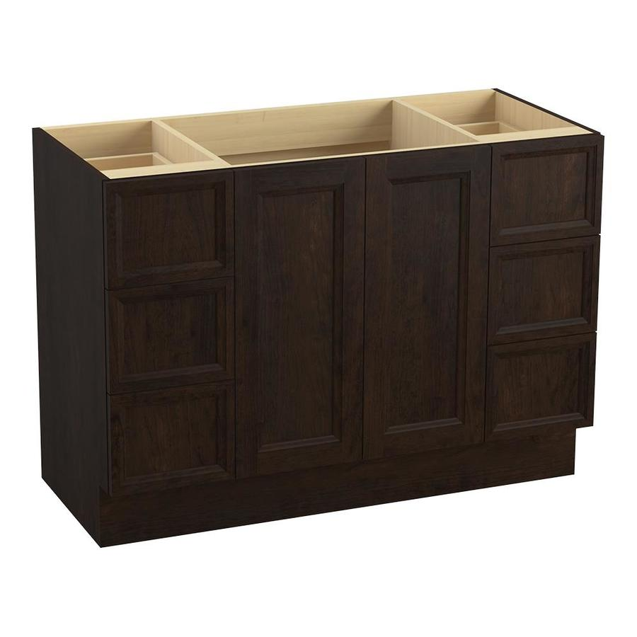 KOHLER Damask 48-in Claret Suede Traditional Bathroom Vanity