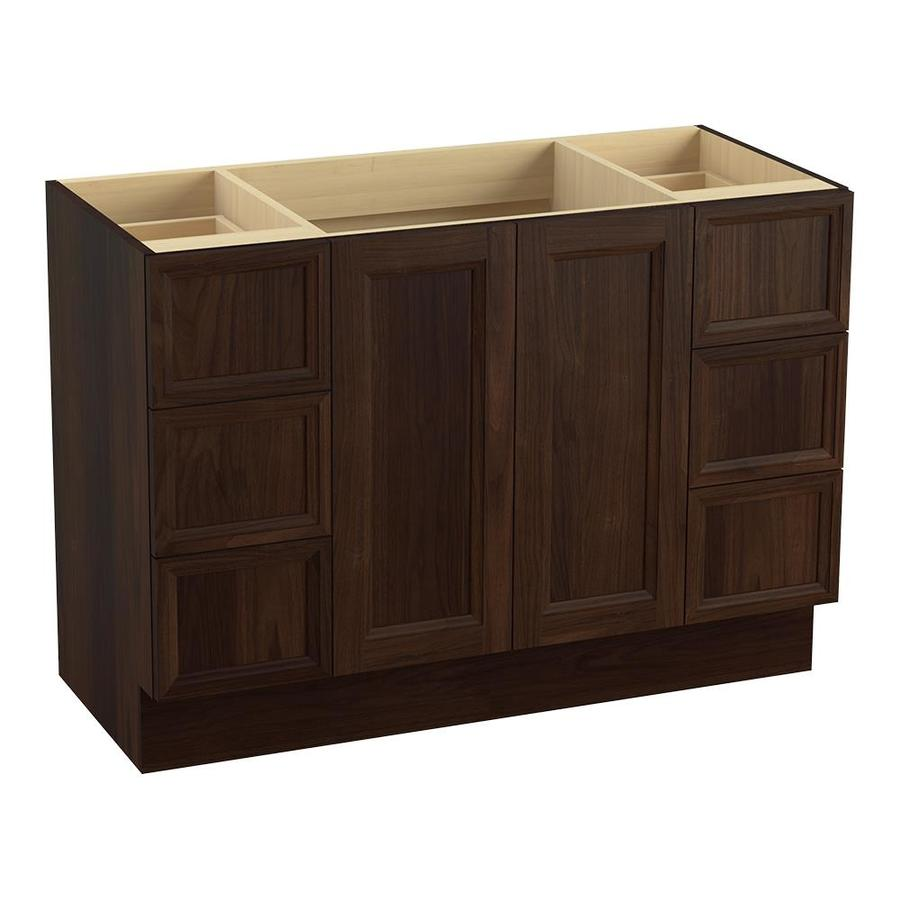 KOHLER Damask Ramie Walnut (Common: 48-in x 22-in) Traditional Bathroom Vanity (Actual: 48-in x 21.875-in)