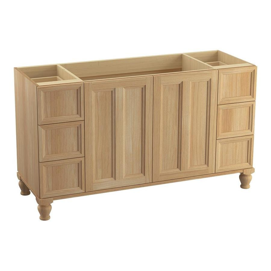 KOHLER Damask Khaki White Oak Bathroom Vanity (Common: 60-in x 22-in; Actual: 60-in x 21.87-in)