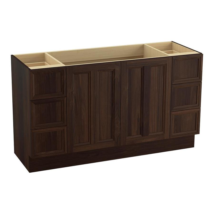 KOHLER Damask Ramie Walnut Bathroom Vanity (Common: 60-in x 22-in; Actual: 60-in x 21.87-in)