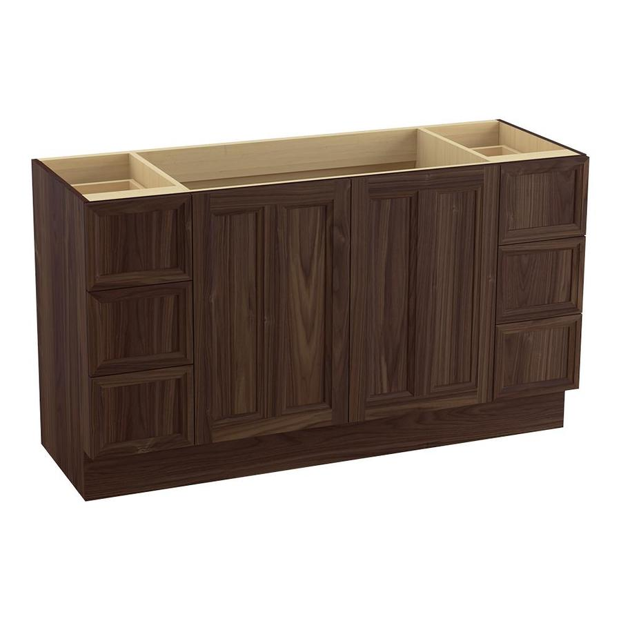 KOHLER Damask Terry Walnut 60-in Traditional Bathroom Vanity
