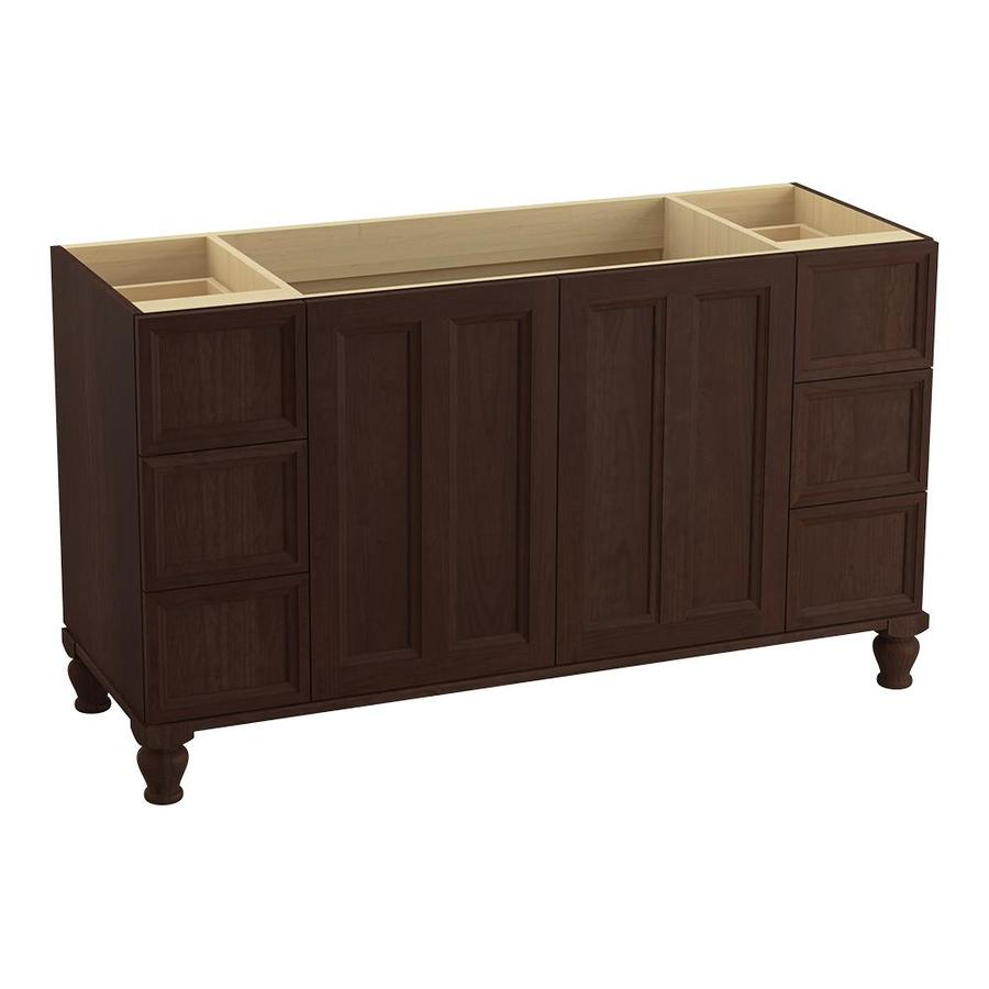 KOHLER Damask Cherry Tweed 60-in Traditional Bathroom Vanity