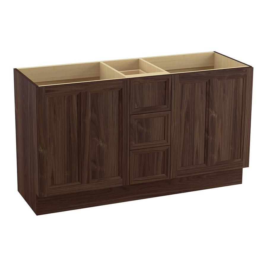 KOHLER Damask Terry Walnut (Common: 60-in x 22-in) Traditional Bathroom Vanity (Actual: 60-in x 21.875-in)