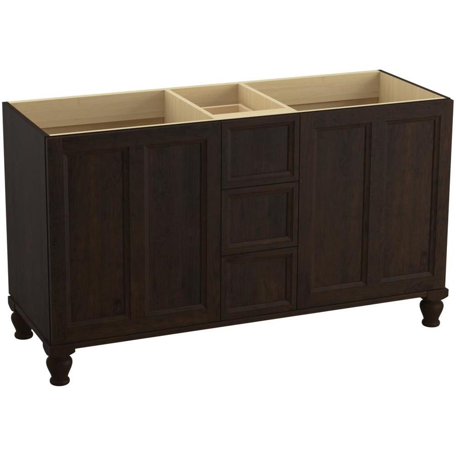 KOHLER Damask Claret Suede (Common: 60-in x 22-in) Traditional Bathroom Vanity (Actual: 60-in x 21.875-in)