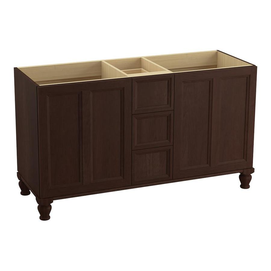 KOHLER Damask Cherry Tweed Bathroom Vanity (Common: 60-in x 22-in; Actual: 60-in x 21.87-in)