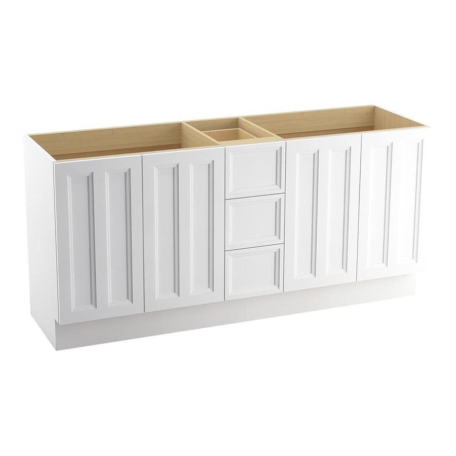 KOHLER Damask Linen White Bathroom Vanity (Common: 72-in x 22-in; Actual: 72-in x 21.87-in)