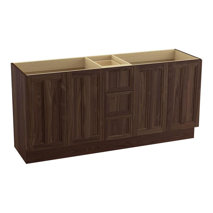 KOHLER Damask Terry Walnut Bathroom Vanity (Common: 72-in x 22-in; Actual: 72-in x 21.87-in)