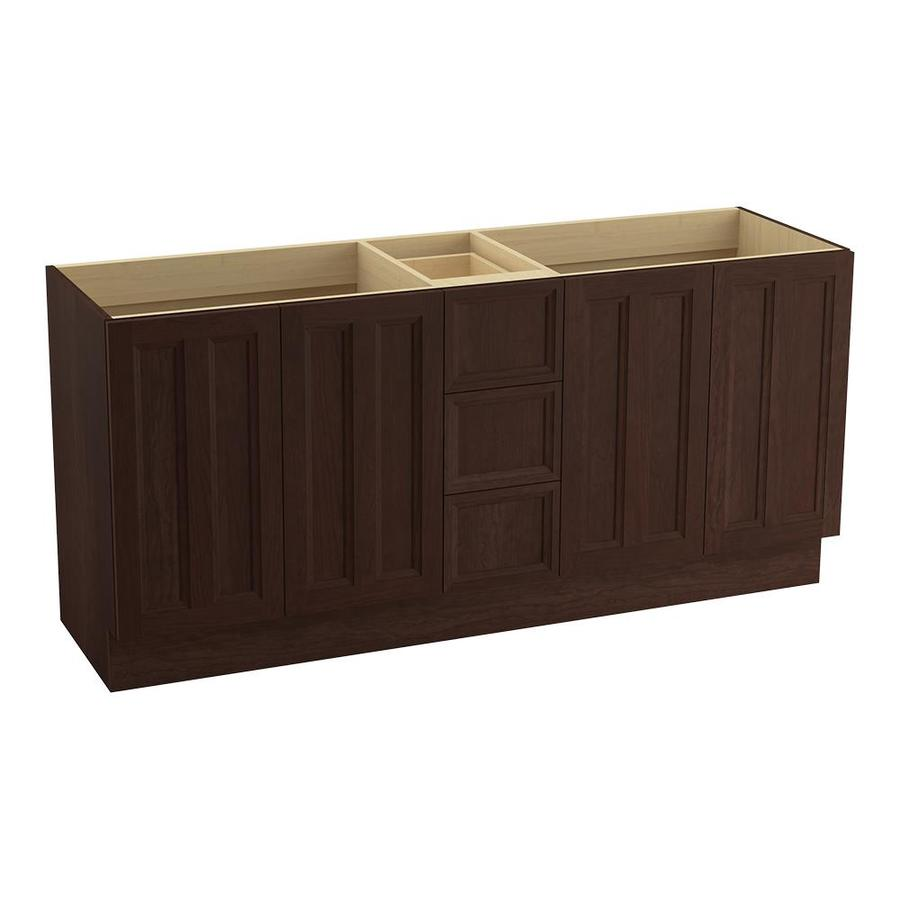 KOHLER Damask Cherry Tweed 72-in Traditional Bathroom Vanity