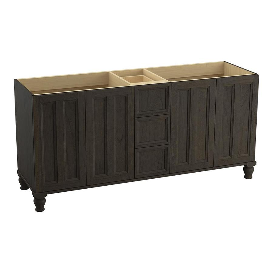 KOHLER Damask Felt Grey (Common: 72-in x 22-in) Traditional Bathroom Vanity (Actual: 72-in x 21.875-in)