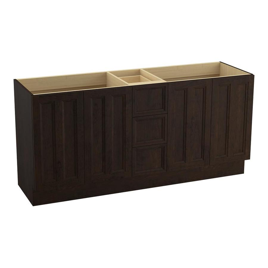 KOHLER Damask Claret Suede 72-in Traditional Bathroom Vanity
