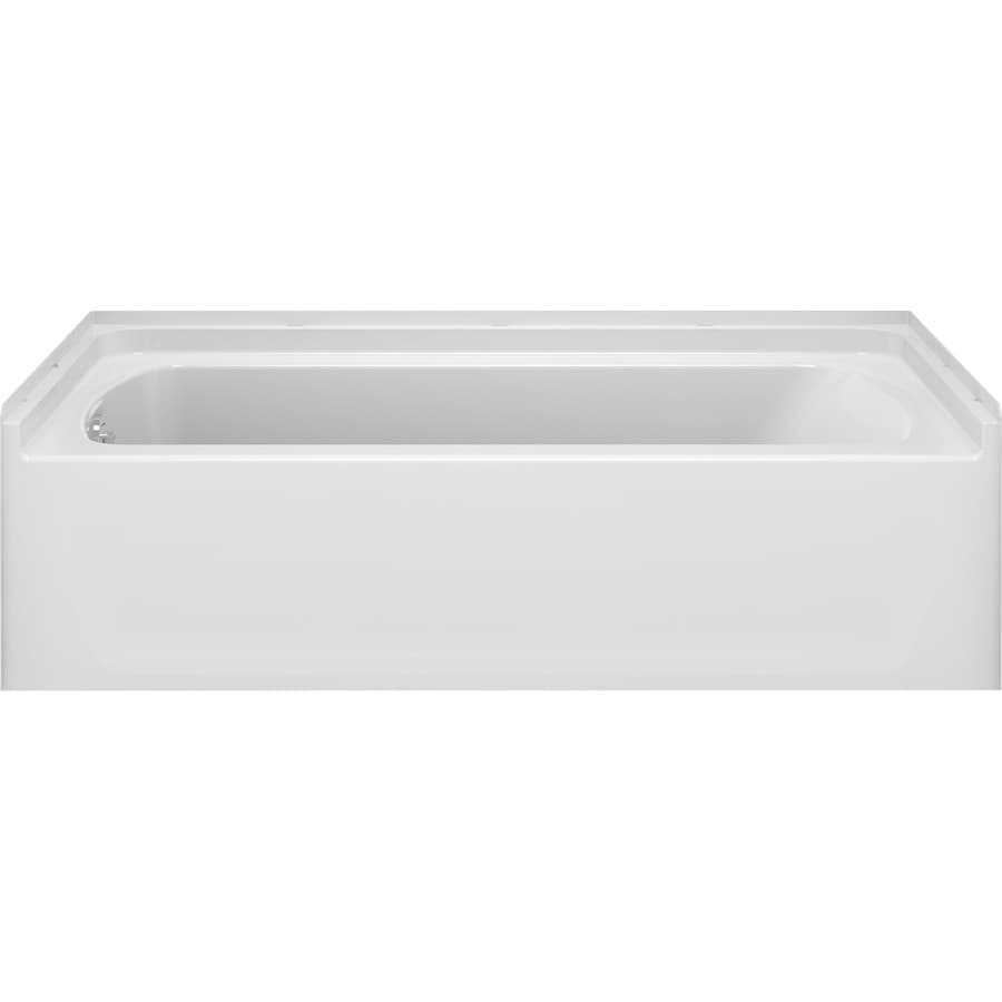 Sterling Ensemble White Vikrell Rectangular Alcove Bathtub with Reversible Drain (Common: 31-in x 60-in; Actual: 19-in x 30.125-in x 60-in