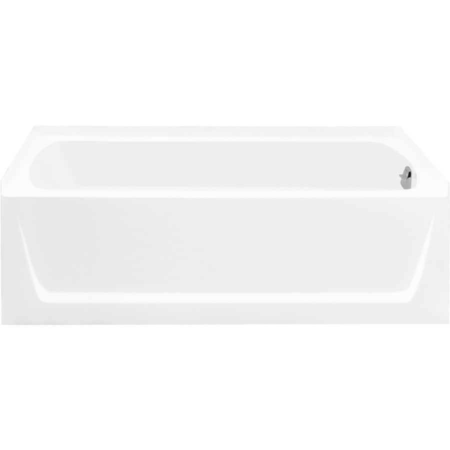 Sterling Ensemble 60-in White Vikrell Bathtub with Right-Hand Drain
