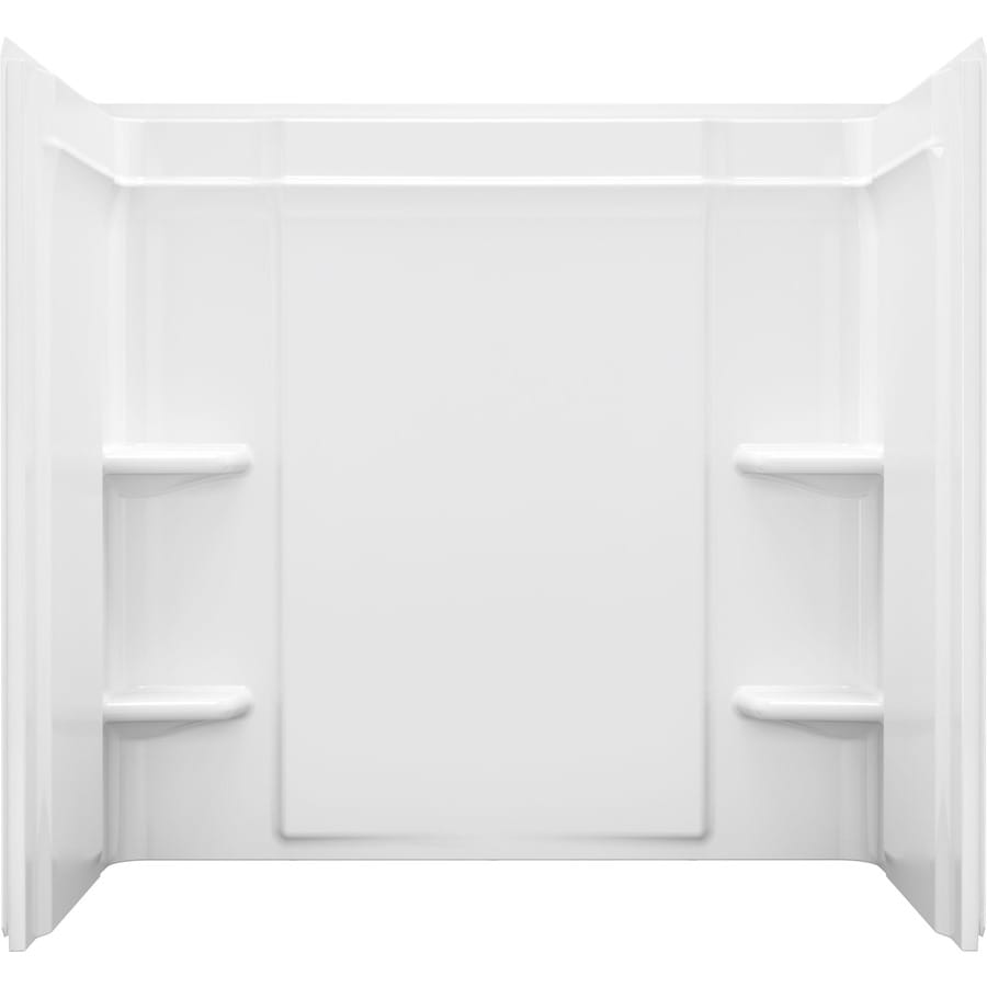 Shop Sterling Ensemble White Vikrell Bathtub Wall Surround (Common ...