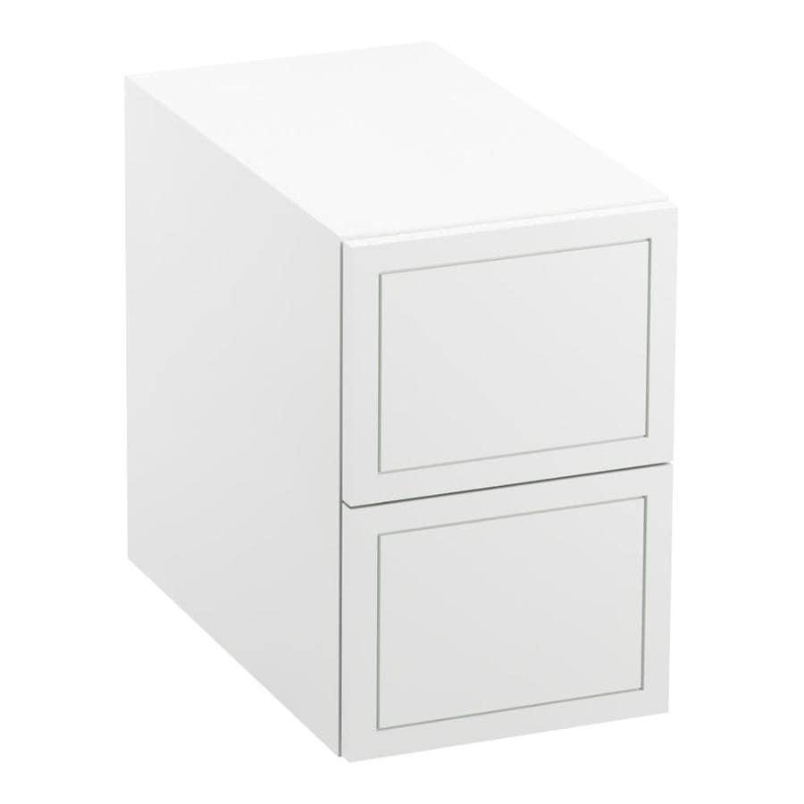KOHLER Jacquard Linen White Vanity Shelf Kit