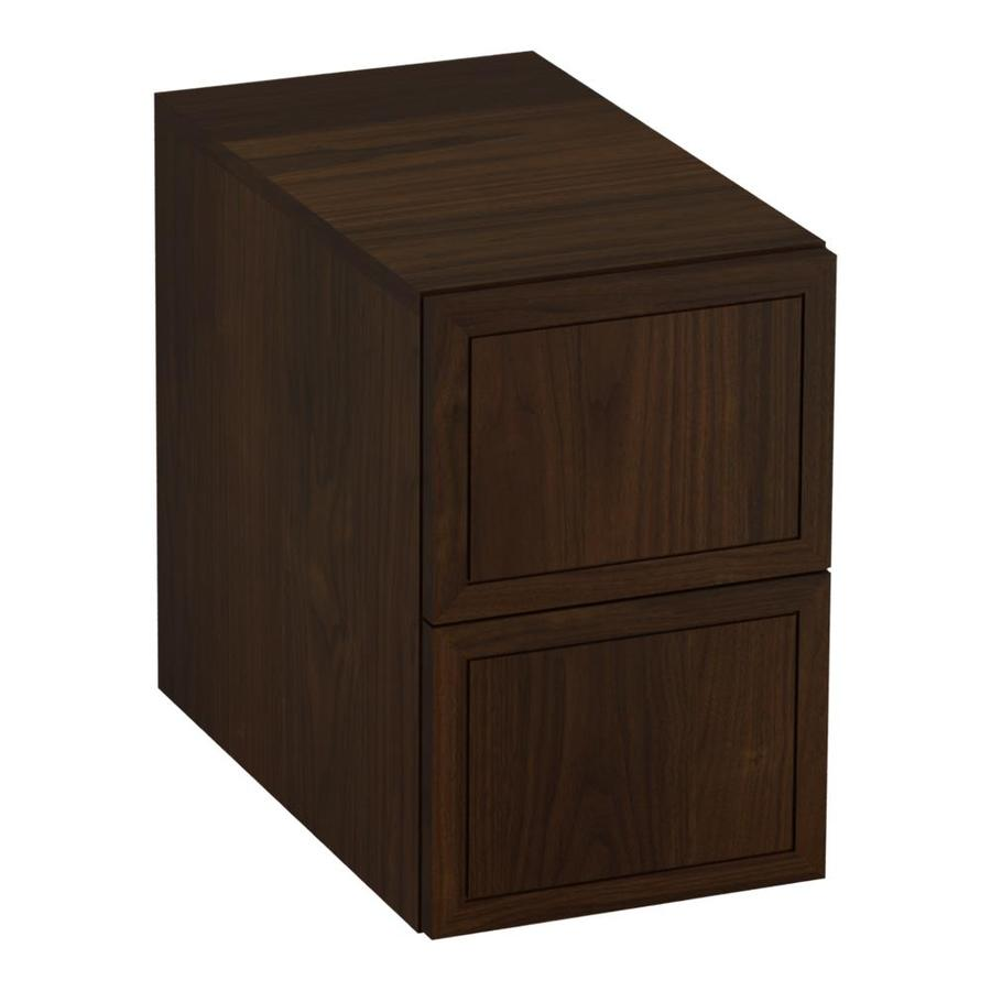 KOHLER Jacquard Ramie Walnut Vanity Shelf Kit