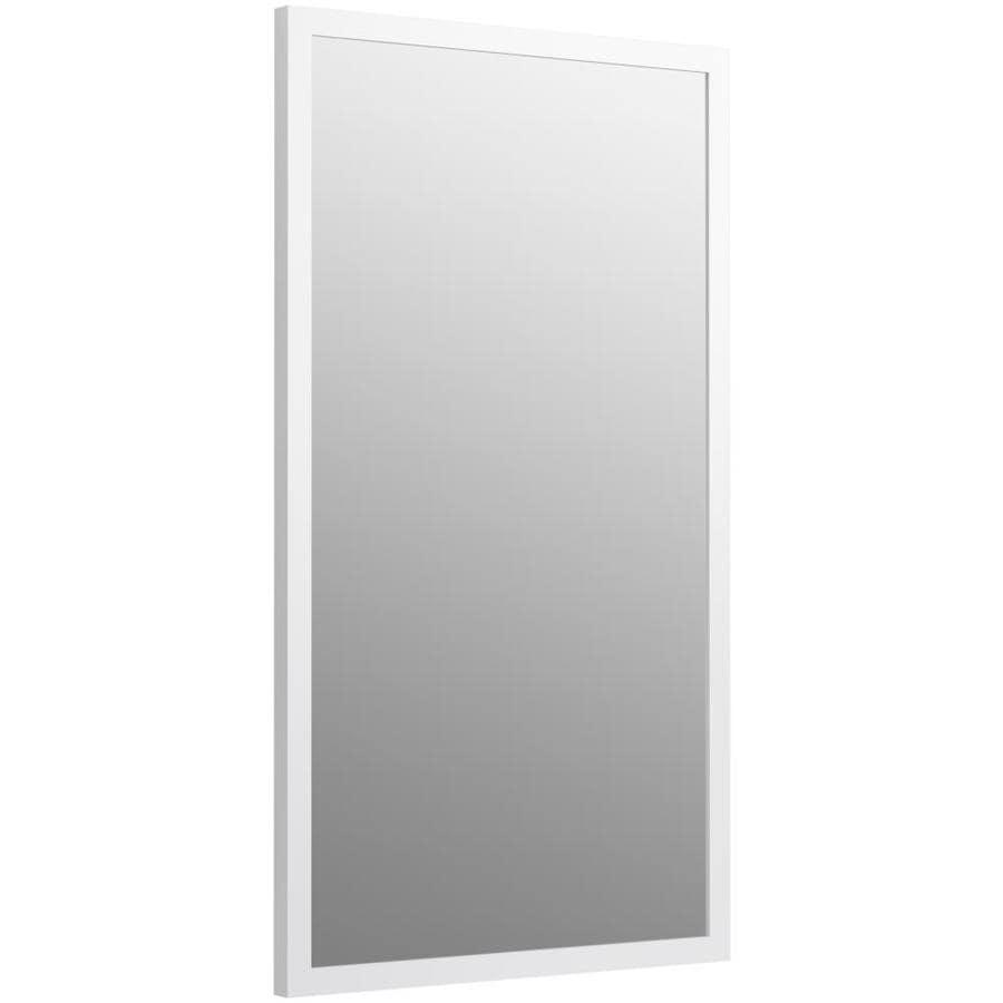 KOHLER Jacquard 19.5-in W x 34.5-in H Linen White Rectangular Bathroom Mirror