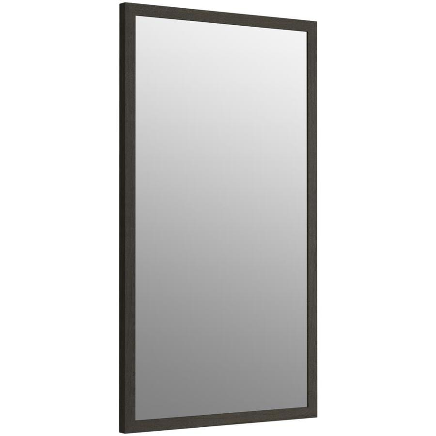 KOHLER Jacquard 19.5-in W x 34.5-in H Felt Grey Rectangular Bathroom Mirror