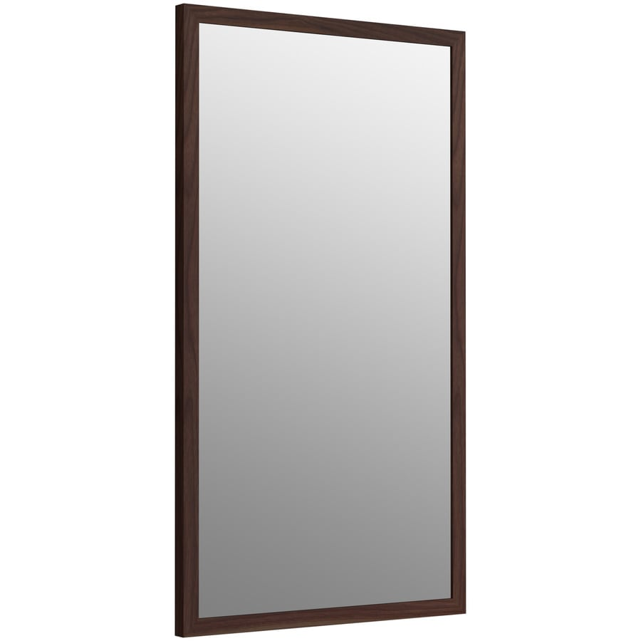 KOHLER Jacquard 19.5-in W x 34.5-in H Terry Walnut Rectangular Bathroom Mirror