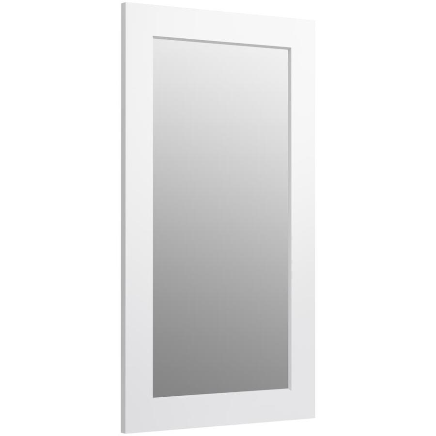 KOHLER Poplin 20.5-in W x 35.5-in H Linen White Rectangular Bathroom Mirror