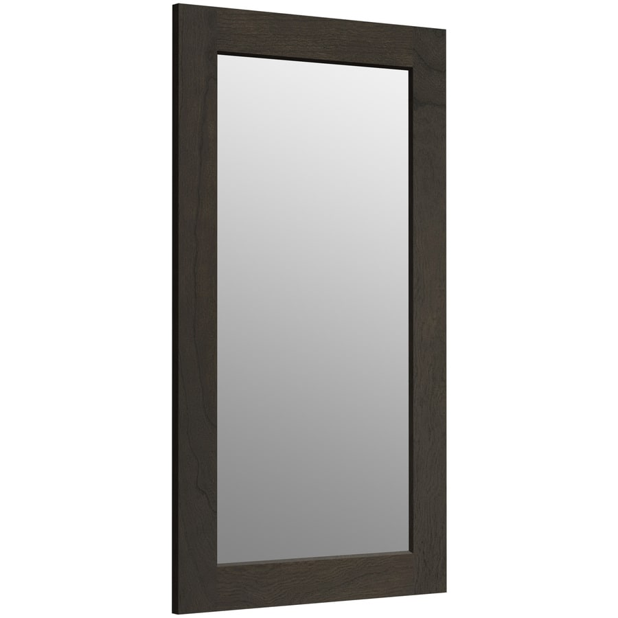 KOHLER Poplin 20.5-in W x 35.5-in H Felt Grey Rectangular Bathroom Mirror