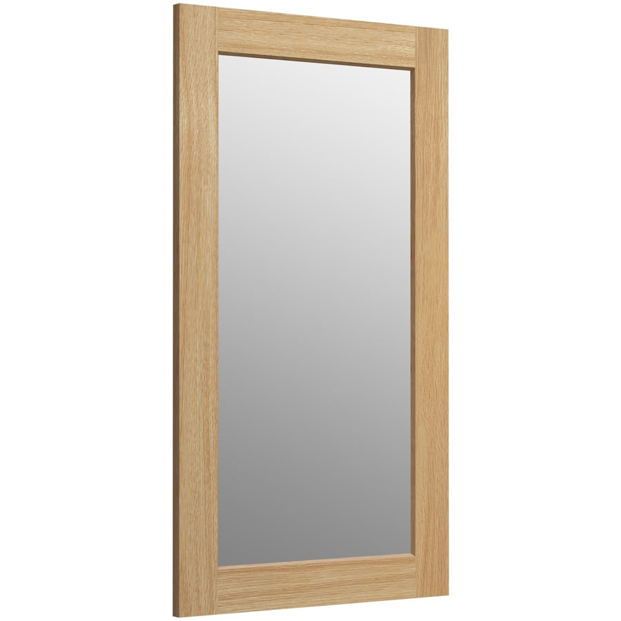 KOHLER Poplin 20.5-in W x 35.5-in H Khaki White Oak Rectangular Bathroom Mirror