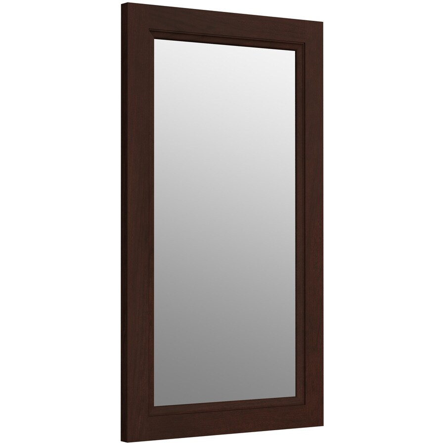 KOHLER Damask 21.75-in W x 36.75-in H Cherry Tweed Rectangular Bathroom Mirror