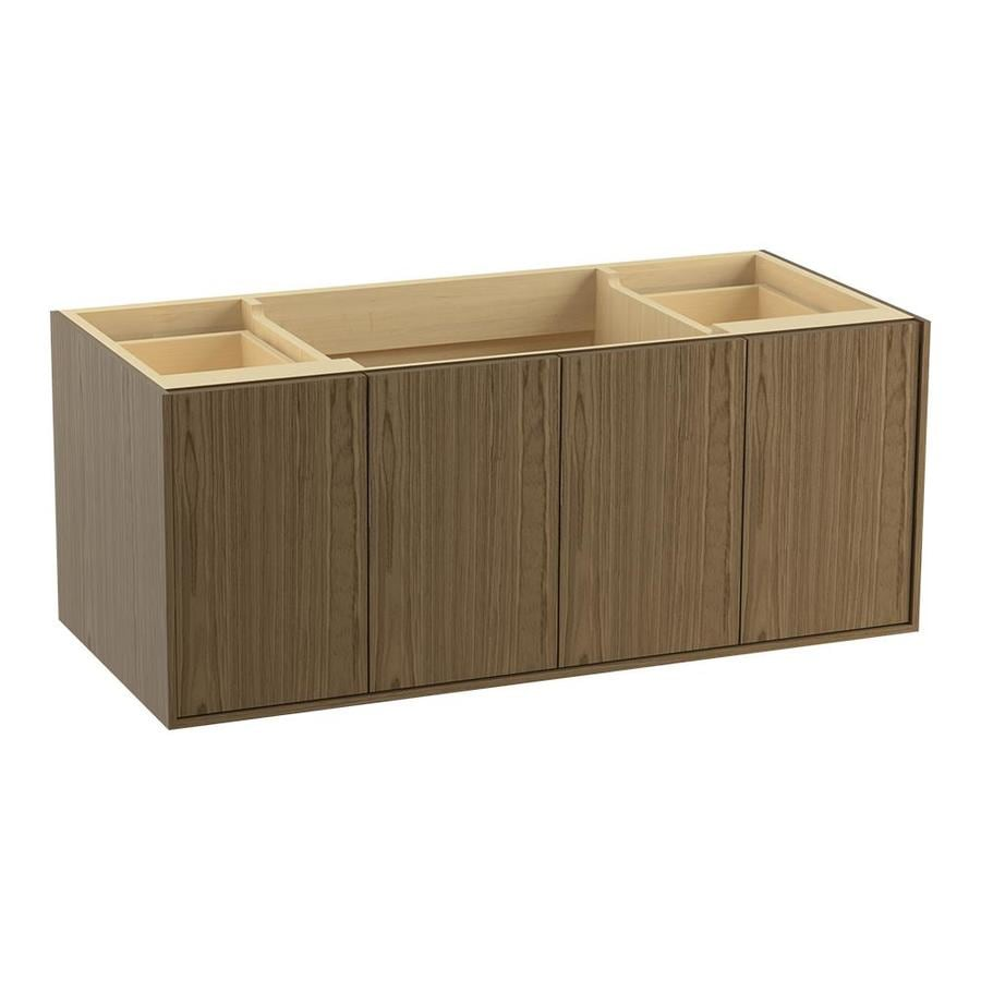 KOHLER Jute Wall-mount Walnut Flax Bathroom Vanity (Common: 48-in x 22-in; Actual: 48-in x 21.87-in)
