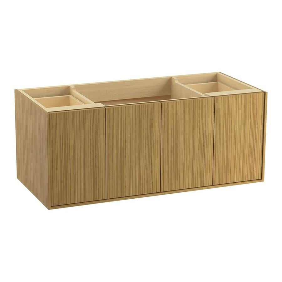 KOHLER Jute Corduroy Teak 48-in Contemporary Bathroom Vanity