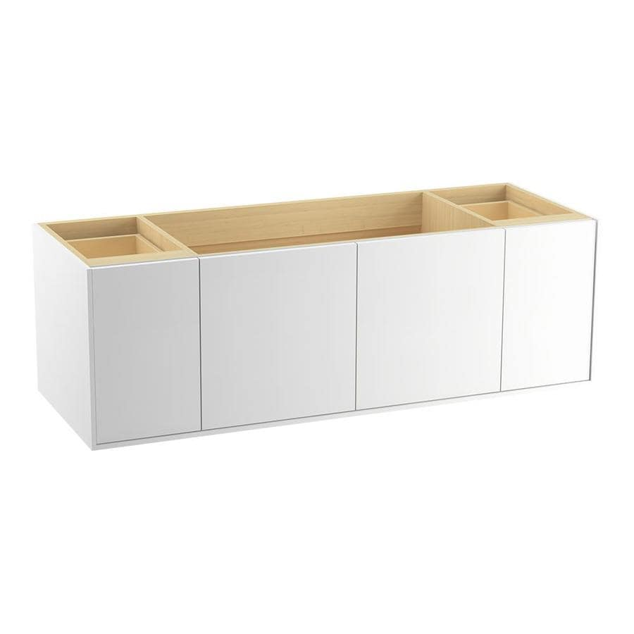 KOHLER Jute Linen White 60-in Contemporary Bathroom Vanity