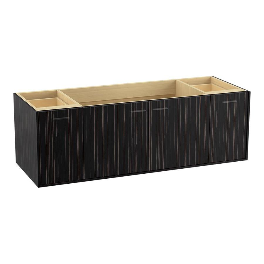 KOHLER Jute Wall-mount Ebony Velour Bathroom Vanity (Common: 60-in x 22-in; Actual: 60-in x 21.5-in)
