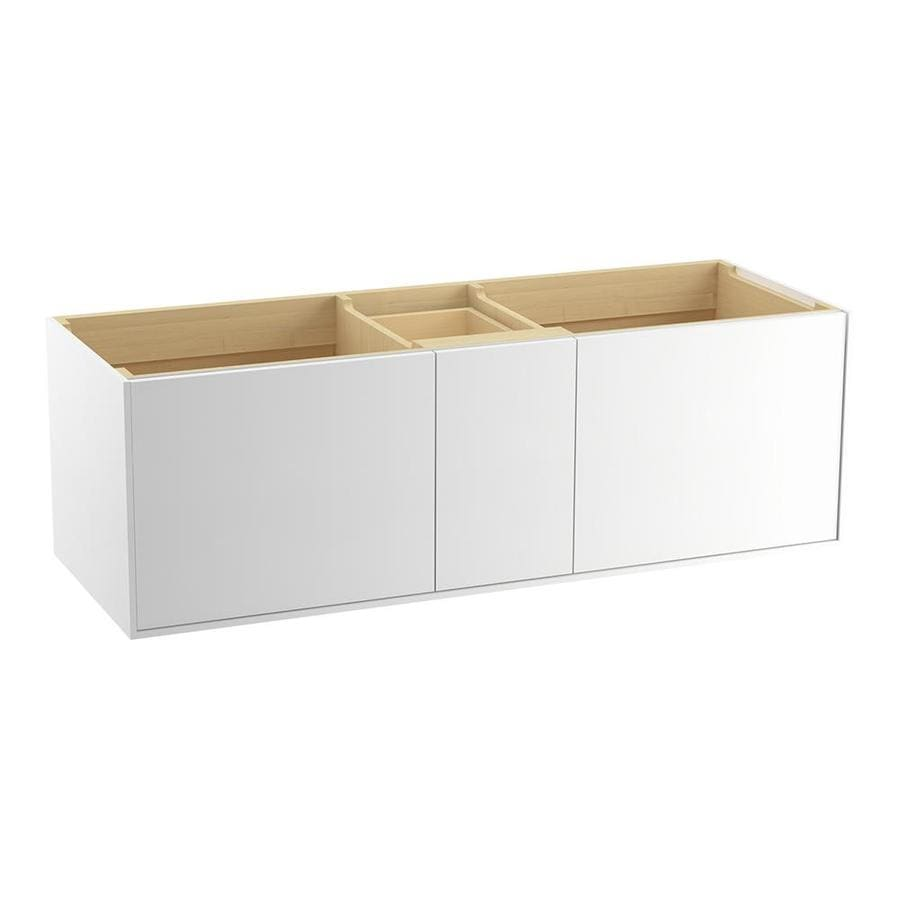 KOHLER Jute Wall-mount Linen White Bathroom Vanity (Common: 60-in x 22-in; Actual: 60-in x 21.5-in)