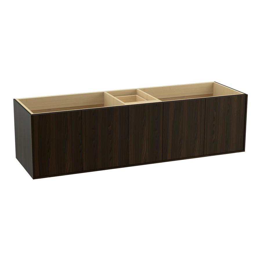 KOHLER Jute Wall-mount Jersey Oak Bathroom Vanity (Common: 72-in x 22-in; Actual: 72-in x 21.5-in)