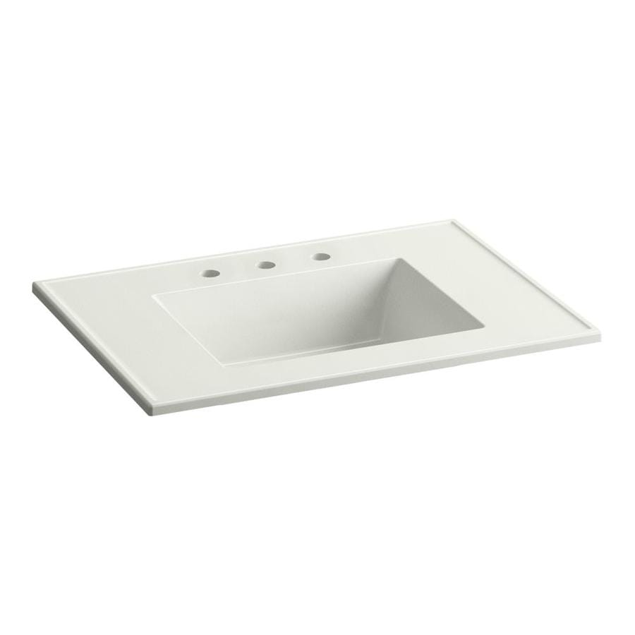KOHLER Ceramic/Impressions Dune Impressions Vitreous China Integral Bathroom Vanity Top (Common: 31-in x 22-in; Actual: 31.0000-in x 22.3750-in)