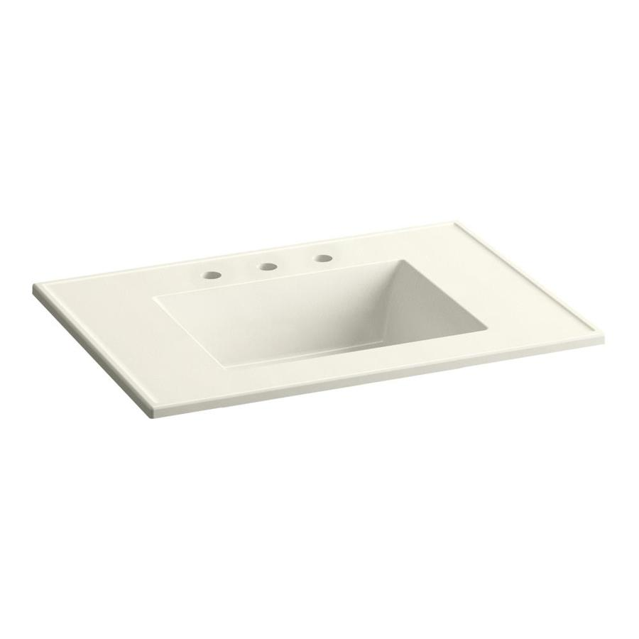 KOHLER Ceramic/Impressions Biscuit Impressions Vitreous China Integral Bathroom Vanity Top (Common: 31-in x 22-in; Actual: 31-in x 22.375-in)