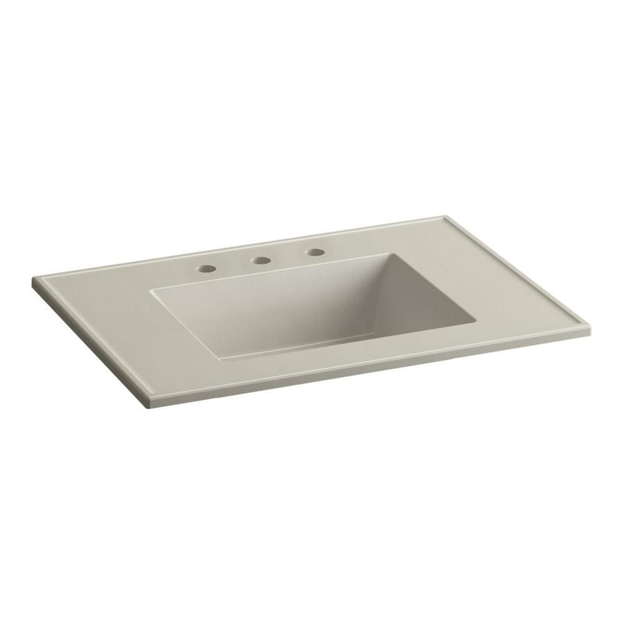 KOHLER Ceramic/Impressions Sandbar Impressions Vitreous China Integral Bathroom Vanity Top (Common: 31-in x 22-in; Actual: 31-in x 22.375-in)